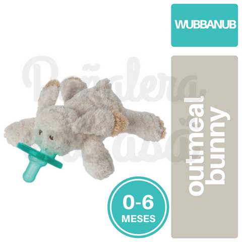 Chupete Wubbanub Avent Soothie Pacifier 0-6 Outmeal Bunny