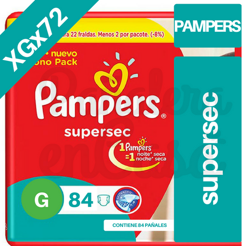 PAMPERS SuperSec MEGAPACK XGx72