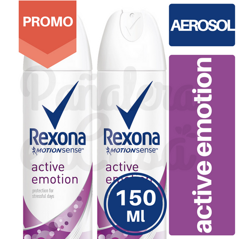 Antitranspirante en Aerosol REXONA Active Emotion PACKx2