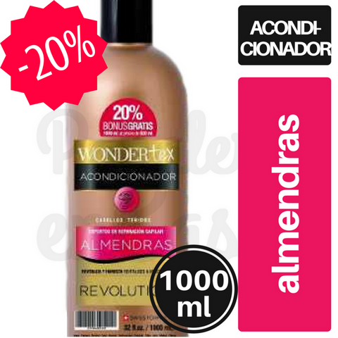 Acondicionador WONDERTEX Almendras 1000ml.