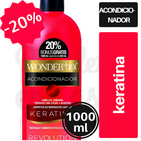 Acondicionador WONDERTEX Keratina 1000ml.