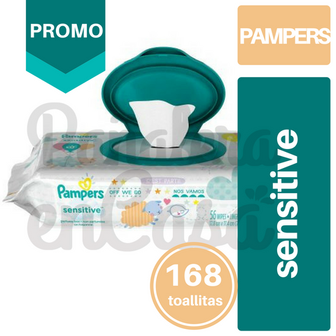 Toallitas PAMPERS Sensitive x56 PACK x3