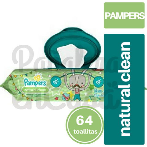 Toallitas PAMPERS Natural Clean x64
