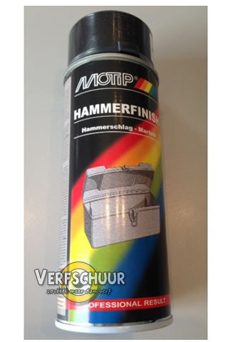 MOTIP Hamerslag spray 400ml 04017 ANTRACIET
