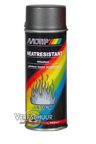 MOTIP Heat resistant spray 650° (800°) 400ml 04030 ANTRACIET DONKER