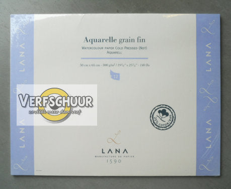 Aquarelle grain fin watercolour paper 50x65cm 300gr/m² 15023544