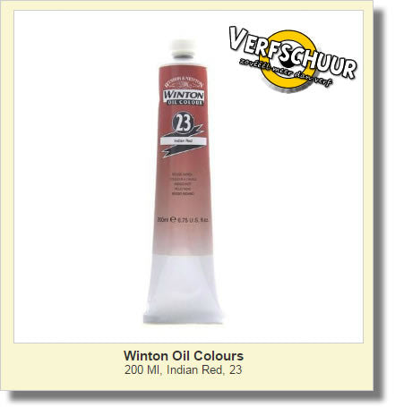 W&N. WINTON OIL COL. TUBE 200 ML. indian red - 23