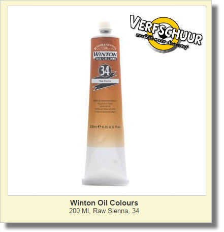 W&N. WINTON OIL COL. TUBE 200 ML. raw sienna - 34
