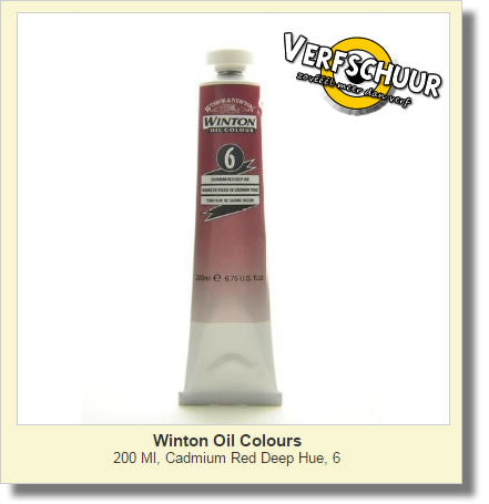 W&N. WINTON OIL COL. TUBE 200 ML. cadmium red deep - 06