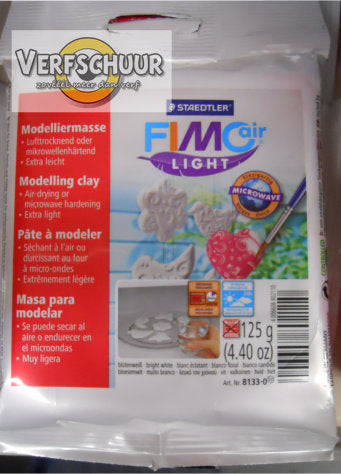 Fimo air light boetseerklei microwave 125 gr, wit 8133-0