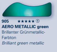 AERO COLOR Prof. Effect AERO METALLIC green 28ml serie:1 28905023