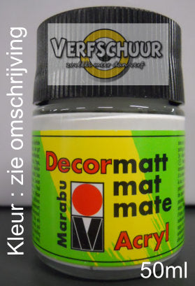 DECORMATT ACRYL 50 ML GRANAATROOD 004