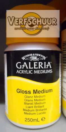 W&N. GALERIA ACRYLIC Gloss MEDIUM 250 ML.