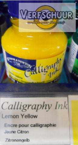 W&N. CALLIGRAPHY INK 30 ML. lemon yellow 1111345