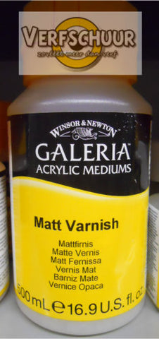 W&N. GALERIA ACRYLIC Matt VARNISH 500 ML.