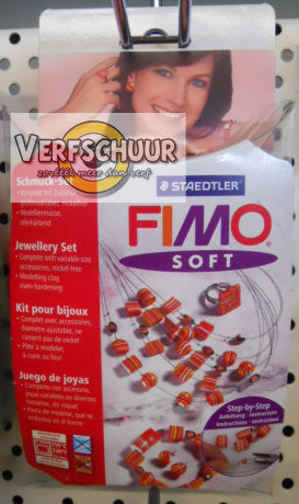 "Fimo soft set - juwelenset ""Red dreams"""
