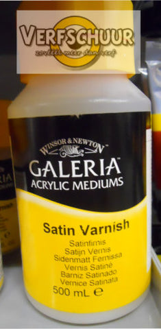 W&N. GALERIA ACRYLIC Satin VARNISH 500 ML.
