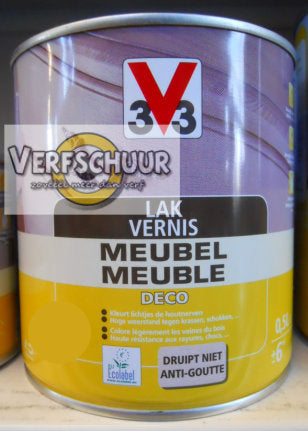 Lak / Vernis meubel deco satijn mahonie 500ml