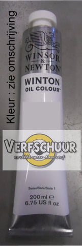 W&N. WINTON OIL COL. TUBE 200 ML.yellow ochre - 44