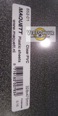 A3 Glashelder PVC 0.15mm 652-01