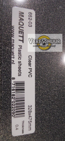 A3 Glashelder PVC 0.40mm 652-03