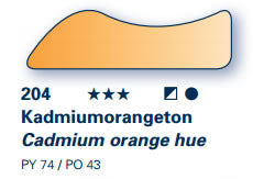 AERO COLOR Prof. Standard teinte orange de cadmium 28ml serie:1 28204023