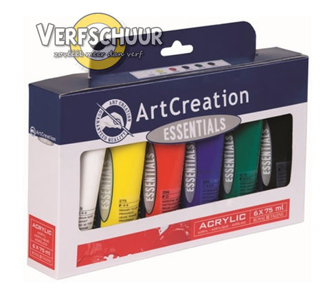 ArtCreation Ess.Acrylverf set kleur:M01 (6 x tube 75 ml) serie: