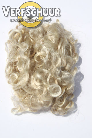 Blonde curly locks haar