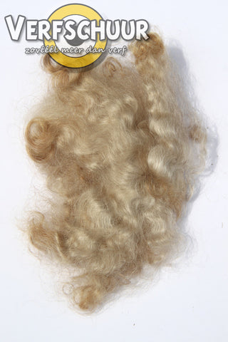Straight mohair roving salt and pepper haar