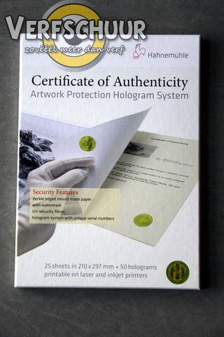 Certificate of Authenticity 210x297mm 25v 10640397
