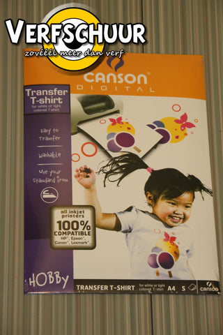 Canson digital transfer t-shirt a4 5st 200987288