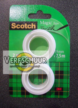 Scotch Magic plakband 2rol 19mmx7.5m