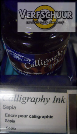 W&N. CALLIGRAPHY INK 30 ML. sepia