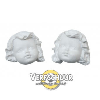 Powertex duo angel heads plaster 0201 / 3215-001