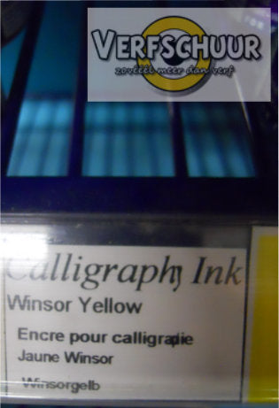 W&N. CALLIGRAPHY INK 30 ML. winsor yellow