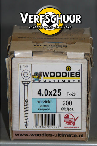 Woodies ultimate VK T-20 4,0x25/15 VZ 200st 134025