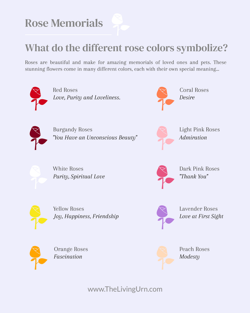 rose memorial colors