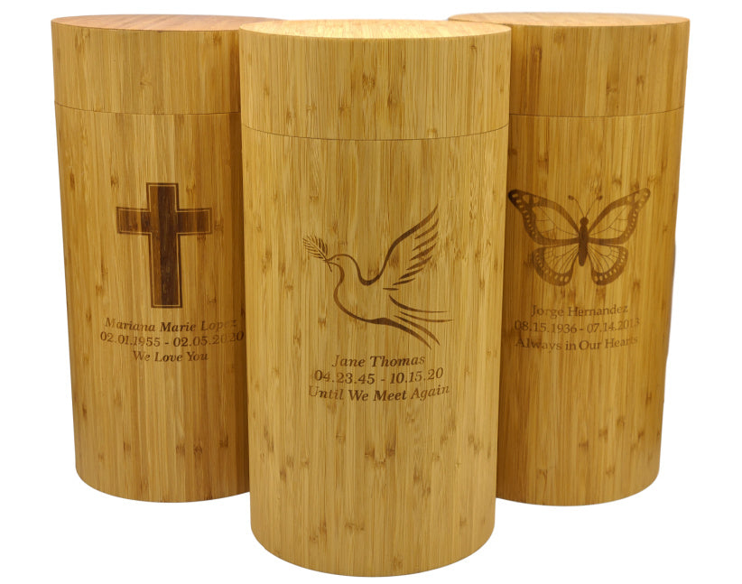 engraving biodegradable urns