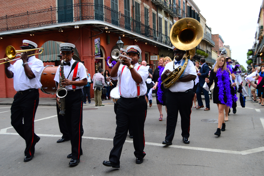 New Orleans Jazz Funeral Procession