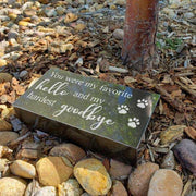 Pet Memorial Stone with Favorite Hello Saying