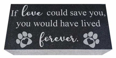 Pet Memorial Stone with Love and Forever Saying