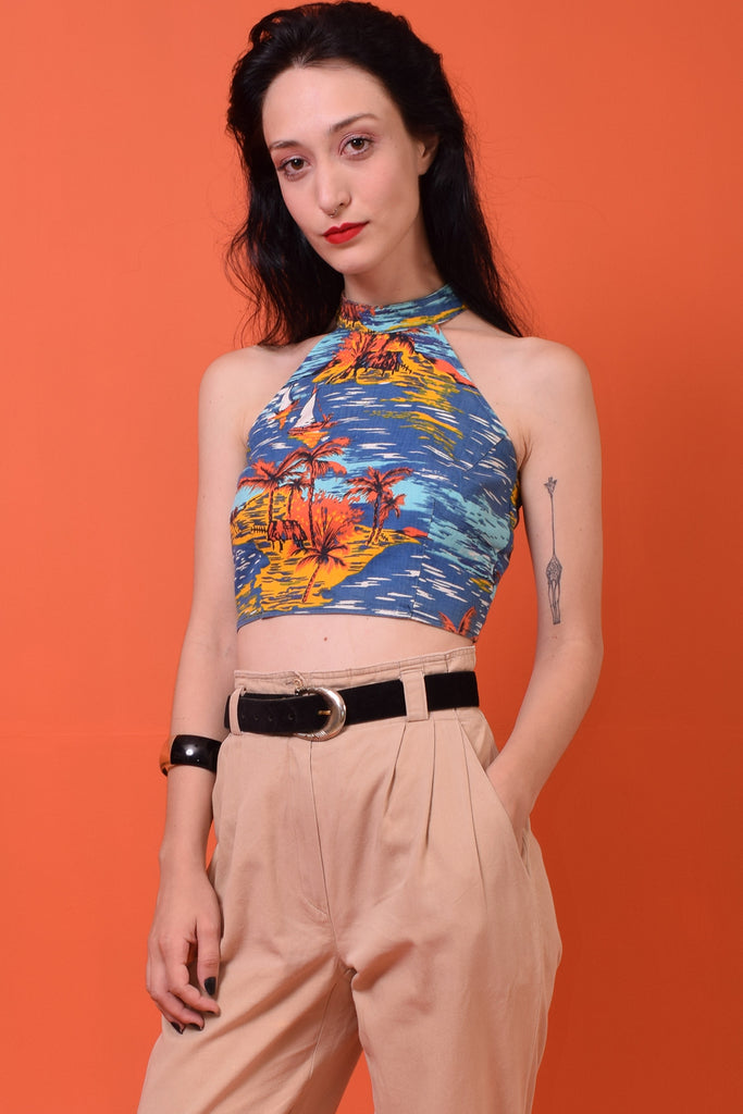 Cropped vintage tropical