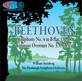 Beethoven: Symphony No. 4 in B flat, Op. 60 & Leonore Overture No. 3, Op. 72a - William Steinberg & The Pittsburgh Symphony Orchestra