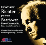 Sviatoslav Richter Performs Beethoven Piano Concerto No. 1 & Piano Sonata No. 22, Op. 54 - Charles Munch Conducts the Boston Symphony Orchestra