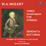 Mozart Three Divertimenti For Strings / Serenata Notturna - Academy Of St Martin-in-the-Fields Directed By Neville Marriner
