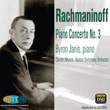 Rachmaninov Piano Concerto No. 3 -  Byron Janis, piano - Charles Munch Boston Symphony Orchestra (Pure DSD)