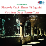 Rachmaninov Rhapsody On A Theme Of Paganini / Dohnányi Variations On A Nursery Theme - Katchen - Boult