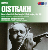 David Oistrakh: Bruch Scottish Fantasy in E-flat major, Op. 46 & Hindemith: Violin Concerto - Jascha Horenstein Conducts the London Symphony Orchestra & Paul Hindemith Conducts the London Symphony Orchestra