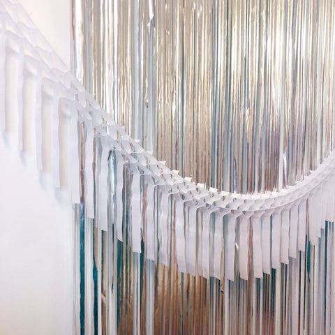 White Fringe Tissue Garland