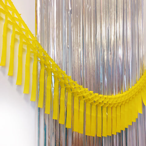 Yellow Fringe Tissue Garland